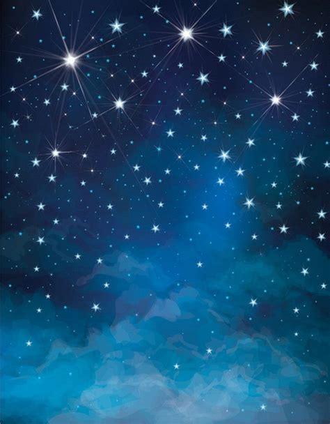 starry night blue prom backdrops night sky stars
