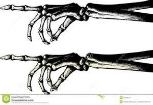 Skeleton Hand Pointing Clip Art