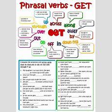 Phrasal Verbs  Get Worksheet  Free Esl Printable