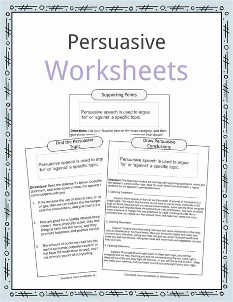 persuasive speech topic exles worksheets facts for