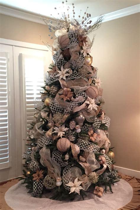 christmas tree burlap silver gold white christmas