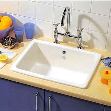 white inset kitchen sink shaws classic inset or undermount white ceramic single 1319