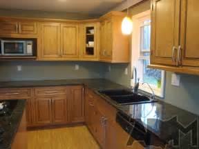 kitchen no backsplash installing river pebble backsplash