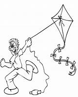 Kite Coloring Flying Pages Printable Fly Colouring Clipart Summer Kites Boy Children Sankranti Makar Bestcoloringpagesforkids Cartoon Drawing Sheets Preschool Printables sketch template