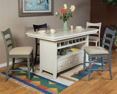 antique white island set  chair options eci furniture