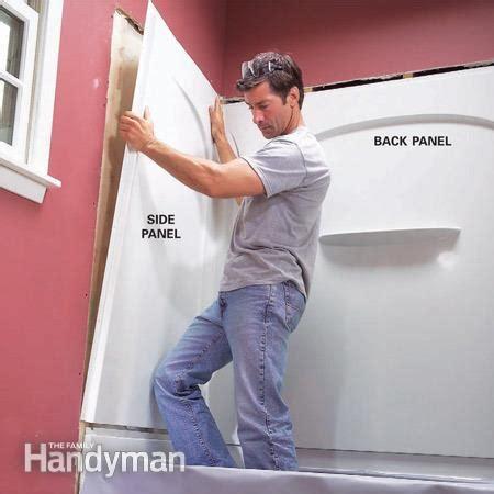 install  acrylic tub  tub surround  family handyman