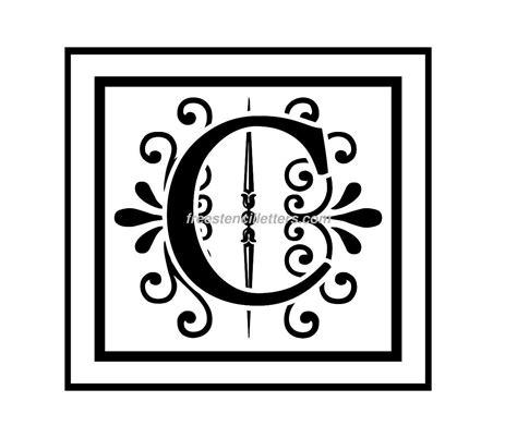 letter c monogram template monogram stencil letters archives free stencil letters
