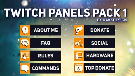 Twitch Panel Template Free Twitch Panels Buttons Template Eng Pl