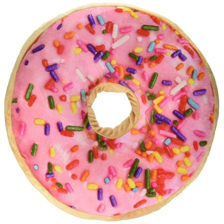 donut pillow walmart scented sprinkle donut 16 quot pillow strawberry walmart