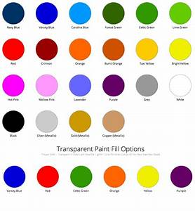 Ping Iron Color Chart Paint Fill Chart