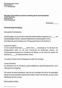Kleinunternehmer Rechnung Muster Ihk : betriebsbedingte k ndigung vorlage k ndigung vorlage ~ Themetempest.com Abrechnung