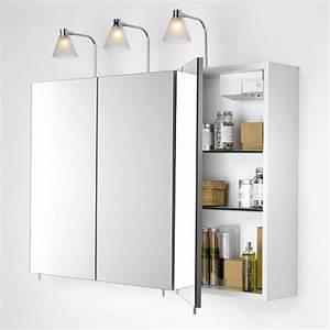 Meuble Avec Miroir : meuble haut salle de bain avec miroir ~ Teatrodelosmanantiales.com Idées de Décoration