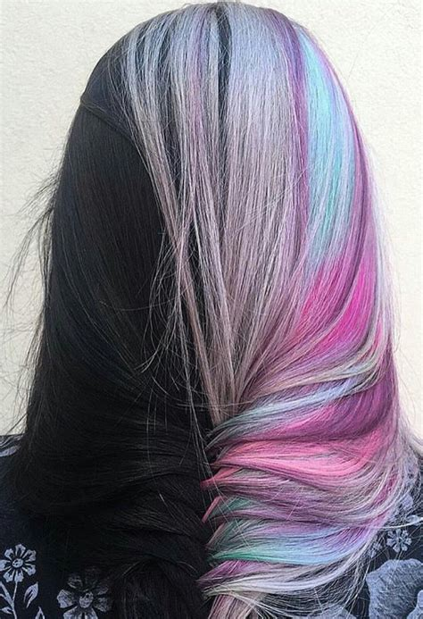 half dyed fishtail braided hair color inspiration idea