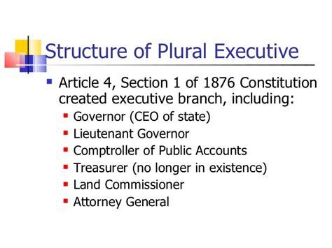 bureau plural the executive
