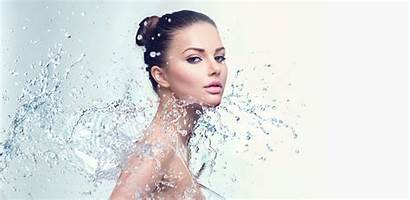 Spa Woman Water Splashes Clinic Smil Medical