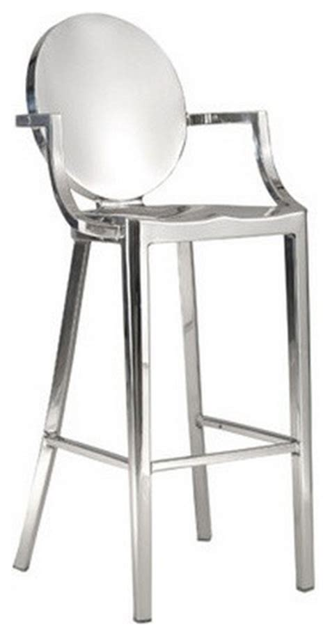 stainless steel bar counter stool with arm bar height