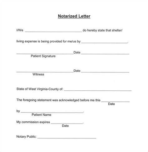 notarizing  letter rota template