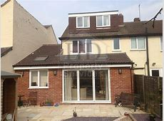 Before and after photos of a single storey extension with
