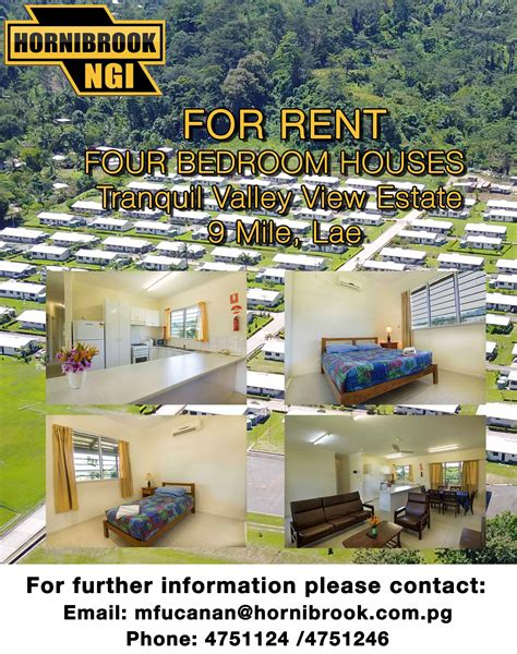 For Rent Four Bedroom Houses Hornibrook Ngi