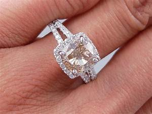 fabulous 313 ctw cushion cut diamond engagement ring with With fabulous wedding rings