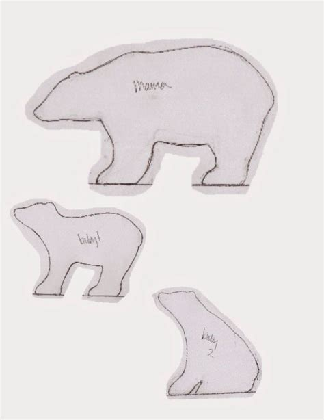 polar template best 20 template ideas on teddy template teddy patterns and