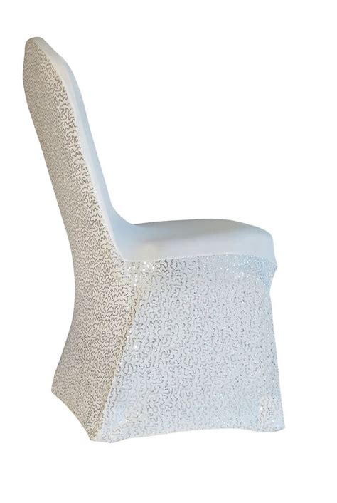 100 sequins spandex wedding banquet chair covers white ivory black silver ebay