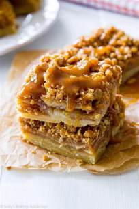 salted caramel apple pie bars sallys baking addiction