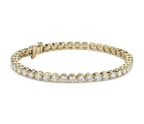 Diamond Tennis Bracelet In 18k Yellow Gold (7 Ct Tw. 4ct Emerald. Tennis Bangle Bracelets. Sugilite Pendant. Styles Wedding Rings. Cc Chanel Brooch. Faith Necklace. Blue Stone Bracelet. Stretchy Bracelet
