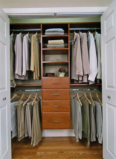 small walk  closet organization home design ideas