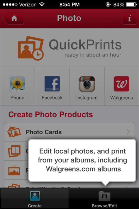 how to print pictures from phone at walgreens how to create custom photo cards from your iphone
