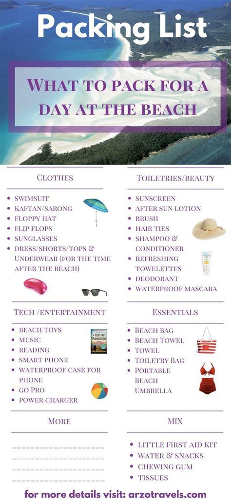 beach vacation packing list  perfect beach packing list
