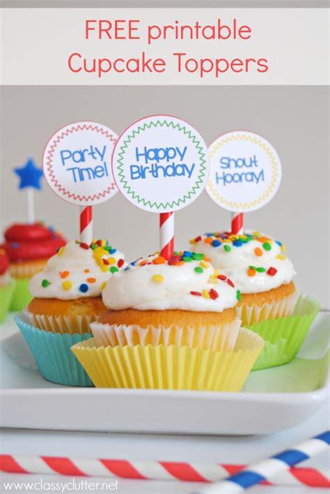 printable birthday cupcake toppers printable  degree