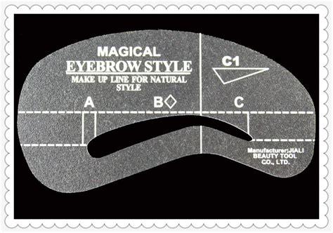 pcslot eyebrow stencils  styles reusable eyebrow