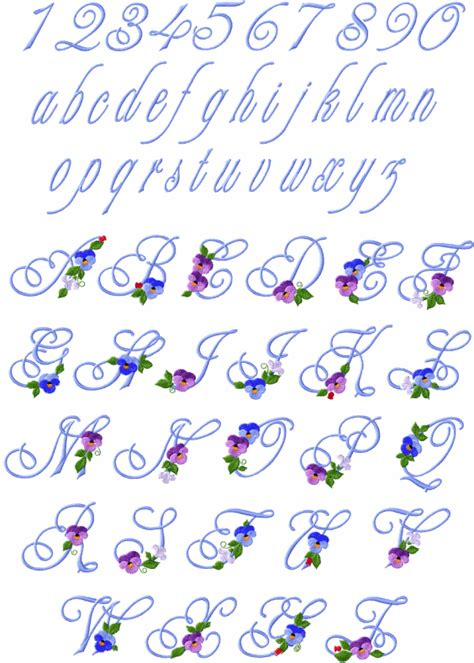 pansies alphabet
