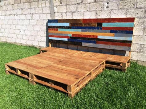 diy pallet bed frame  headboard  pallets