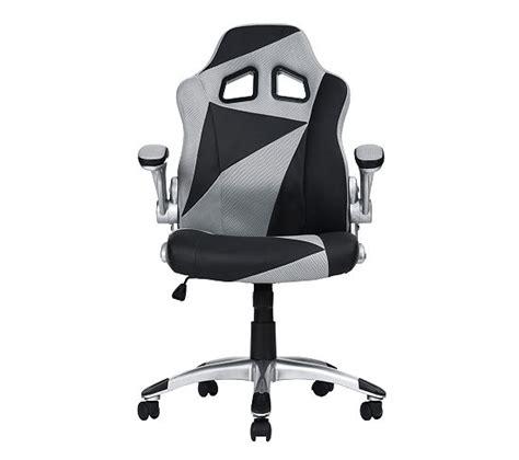 bureau de gamer fauteuil de bureau gamer duo noir et gris chaises et
