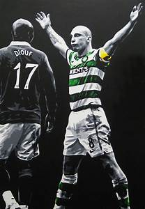 Scott Brown - Celtic Fc Painting by Geo Thomson