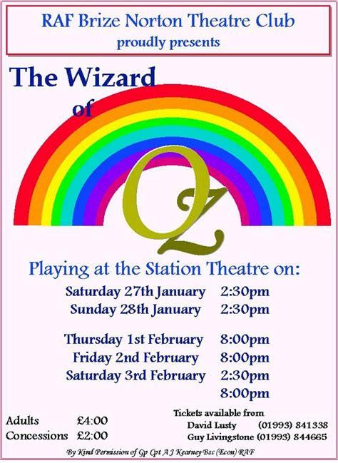 brize template posters raf brize norton theatre club