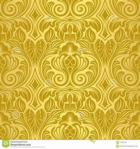Gold seamless wallpaper royalty free stock photo image