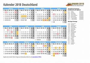 Jahreskalender 2018 2019 : kalender 2018 mit feiertagen ferien kalenderwochen ~ Jslefanu.com Haus und Dekorationen
