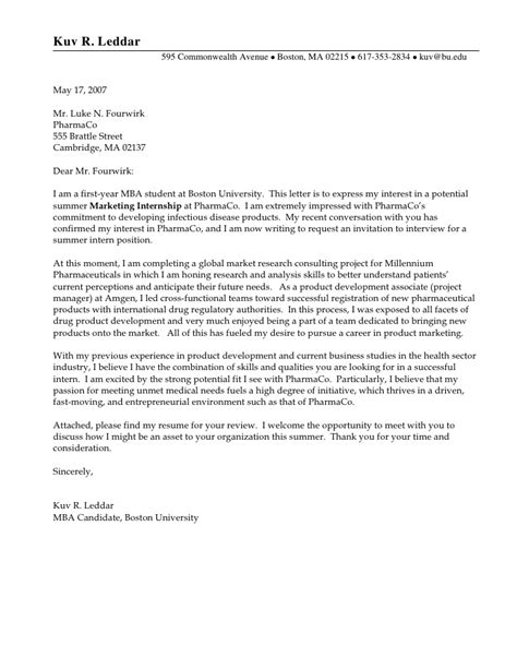 Sle Cover Letter For Internship In Information Technology Cover Letter Exle 1