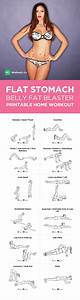 Flat Stomach Belly Fat Blaster At Home Workout For Men  U0026 Women