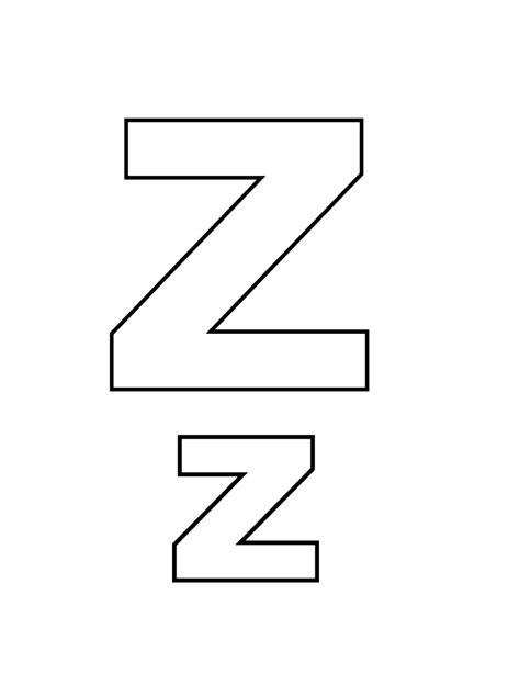 color with z letter z coloring pages to and print for free