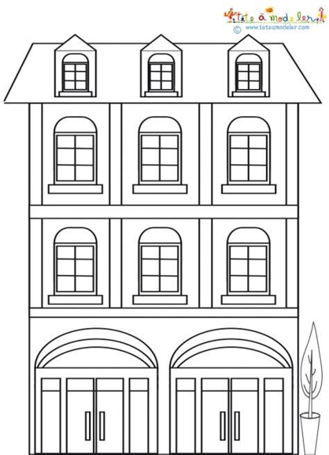 dessin maison de cagne maison 224 deux 233 tages 224 colorier sur t 234 te 224 modeler