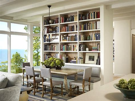 Bookcase In Dining Room by How To Decorate A Bookshelf