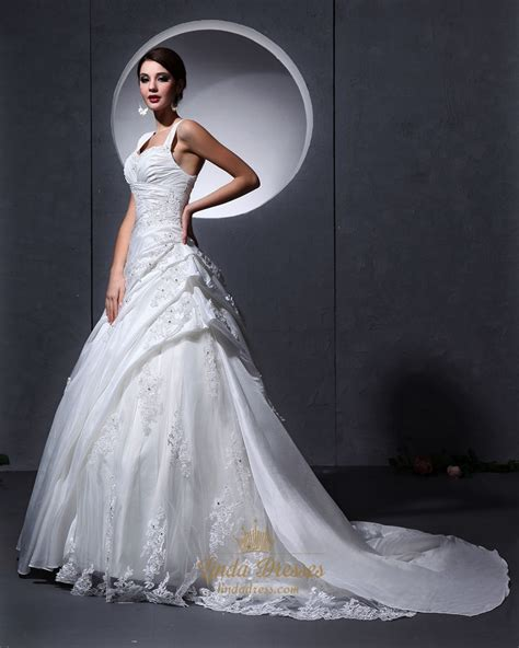 applique on line ivory a line lace applique wedding dress with ruching and