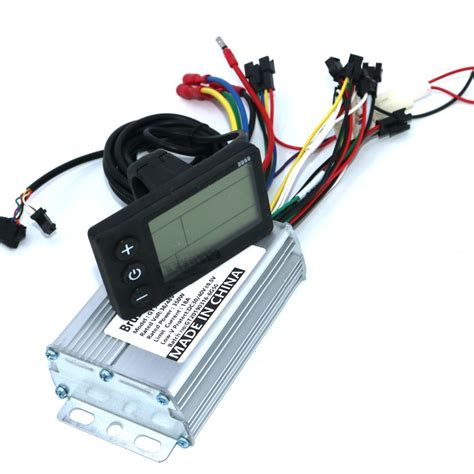36v 48v 350w 18a bldc motor controller e bike brushless speed controller and s866 lcd display