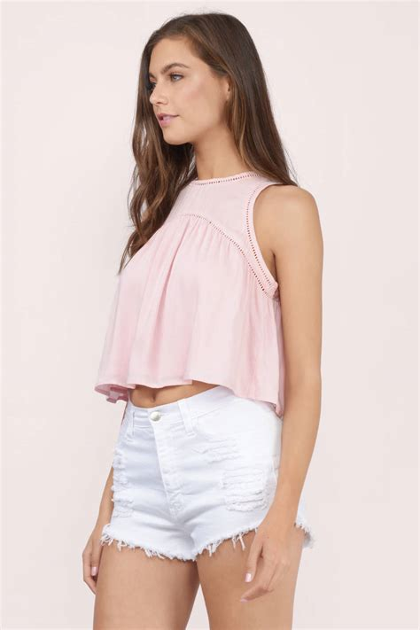 crop blouse ivory crop top white top flowy top 36 00