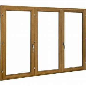 porte fenetre bois 3 vantaux ouvrant a la francaise h215 With porte fenetre bois