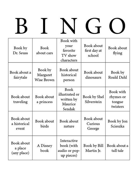 Reading Bingo for kids. This could be revamped to do Genre